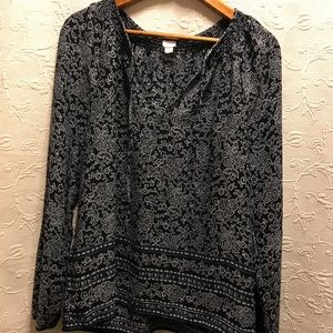 GAP Long Sleeve V-neck Blouse size Small